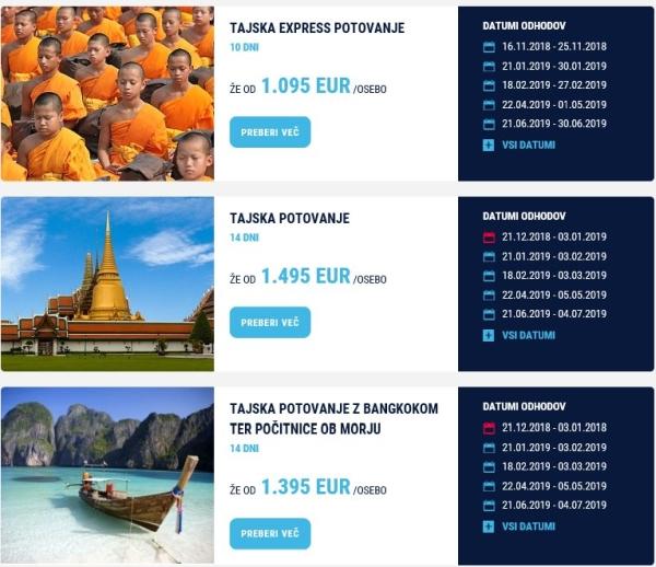Potovanje po Tajski - Turistična agencija ODPELJI.SE